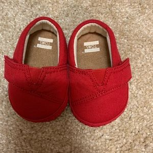 Red Baby Toms Shoes